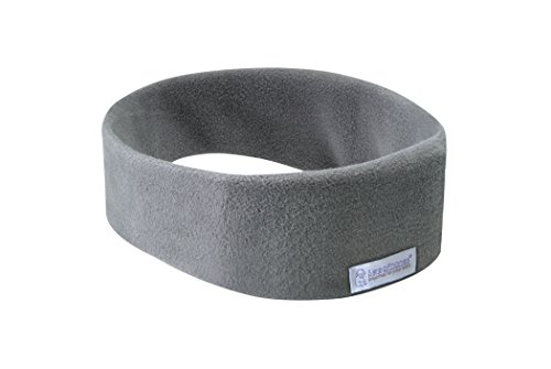 AcousticSheep SleepPhones Wireless | Bluetooth Headphones for Sleep, Travel, and More | The Original and Most Comfortable Headphones for Sleeping | Soft Gray - Fleece Fabric (Size M)