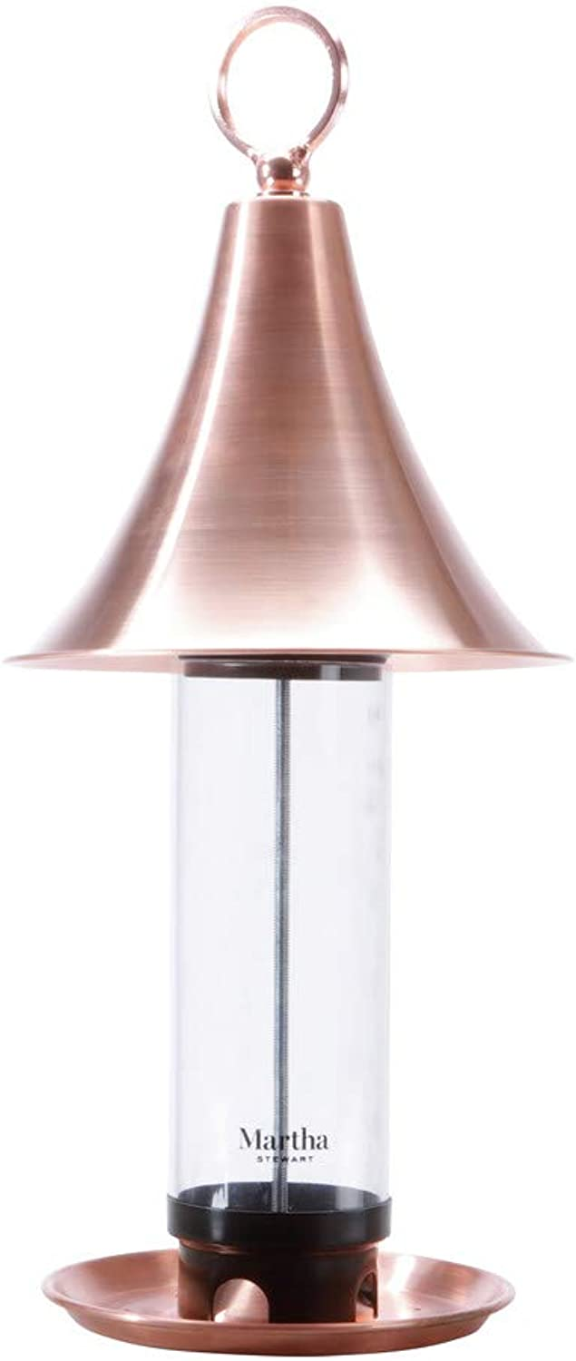 Martha Stewart MTSCBF1 Copper Bird Feeder