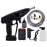 Pistola de limpieza de coche, limpiador eléctrico, lavadora de alta presión inalámbrica, batería de litio con kit de accesorios, 520 PSI 48V