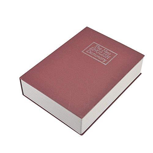 Diccionario Almacenamiento Seguro Libro Con/Cerradura - Grande Secreto Almacenamiento Para Efectivo, Joyería, Coleccionables Oculto Seguridad - Rojo