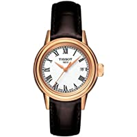 Tissot Carson White Dial Brown Leather Ladies Watch