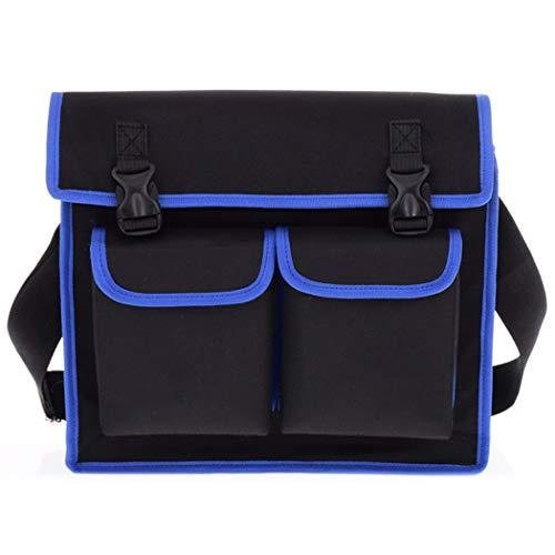 Bageek Onderhoudstas Creatieve Grote Capaciteit Multifunctionele Tool Schoudertas S Zwart/blauw