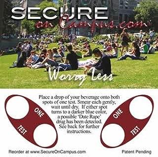 Secure on Campus Date Rape Drug Test Coasters 10 coasters, 20 tests