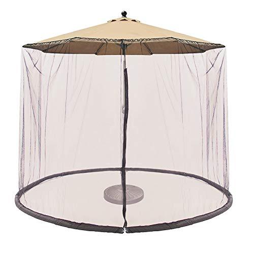 CoastShade Patio Umbrella Outdoor Screen Mesh Mosquito Net Canopy Curtains Large Umbrella Hanging Tent Light Weight Mosquito Netting,Cream