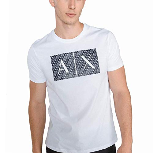 Armani Exchange 8nztck Camiseta, Blanco (White 1100), Medium para Hombre