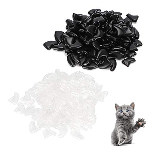 Viccilley 100pcs Cat Nail Caps   Cat Claw Covers   Safe Anti Scratch Dog Paw Claw Protector Covers...