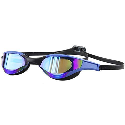 IUANUG Gafas De Natación Competición De Entrenamiento Profesional Gafas De Natación Marco Pequeño Impermeables Antivaho Racing Chapado Gafas De Natación
