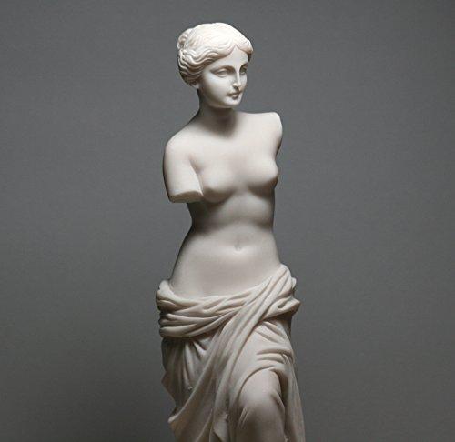 Aphrodite Venus De Milo Göttin der Schönheit Alabaster Statue Skulptur nackt weiblich