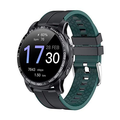 COSCANA Reloj Inteligente Pantalla Grande Bluetooth Llamada Monitor De Frecuencia Cardíaca Rastreador De Ejercicios Mensaje Push Pulsera Deportiva para Android, IOSGreen