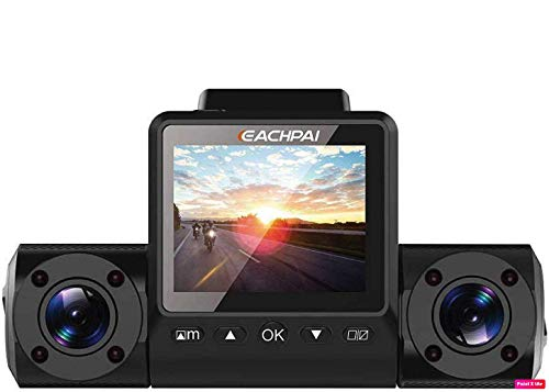 EACHPAI X200 GPS Dash Cam 32GB | Dual 1080P IR Camera | Sony Sensor | High Heat Resistant Super Capacitor | Rideshare Friendly | 150 Degree Wide Angle Lens | WDR | Enhanced Night Vision