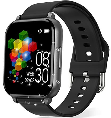 Smartwatch Deportivo, Rastreador de Actividad Física de 1.55 Pulgadas, Pulsera Inteligente, Reloj Inteligente con Monitor de Ritmo...
