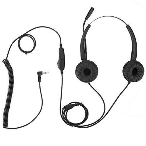 FOLOSAFENAR Auriculares con micrófono Ergonomi Estirable, opción para Servicio de atención al Cliente por teléfono/Ventas telefónicas