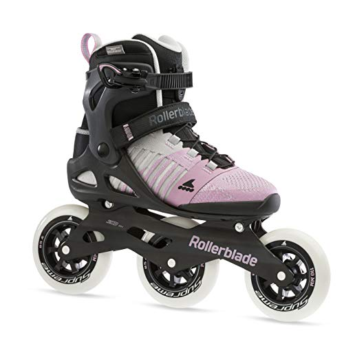 Rollerblade Macroblade 110 3WD Womens Adult Fitness Inline Skate, Grey and Pink, Performance Inline Skates