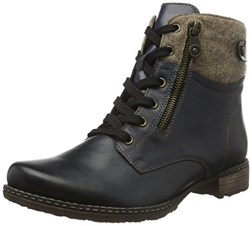 Remonte Damen D4379 Combat Boots, Blau (lake/wood/pazifik/14), 39