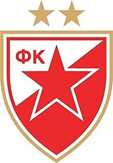 Red Star Belgrade Serbia Soccer Football Hochwertigen Auto Autoaufkleber 10 x 12 cm