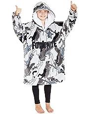 Fortnite Hoodie for Boys, Oversized Hoodie Sweatshirt Blanket, Super Soft Fleece Dressing Gown, Warm Comfortable Hooded Robe, Gifts for Gamers Boys Girls Teens 7-14 Years