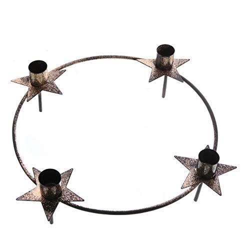 ARTECSIS Kerzenkranz Glitzer Ø 29cm I Kerzenhalterkranz für 4 Stabkerzen für Adventskranz I Adventsdeko Weihnachtsdeko aus Metall