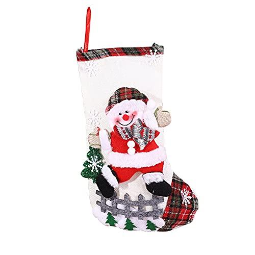 ODOORACT Calcetines de Navidad, calcetines de chimenea para Navidad, calcetines de Papá Noel, para rellenar, calcetines de Navidad para textiles navideños (12,99 x 7,87 pulgadas)