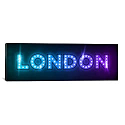iCanvasART London in Lights by Michael Thompsett Canvas Art Print