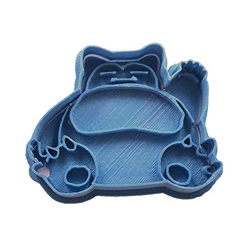 Cuticuter Snorlax Pokemon Ausstechform, Blau, 8x 7x 1.5cm