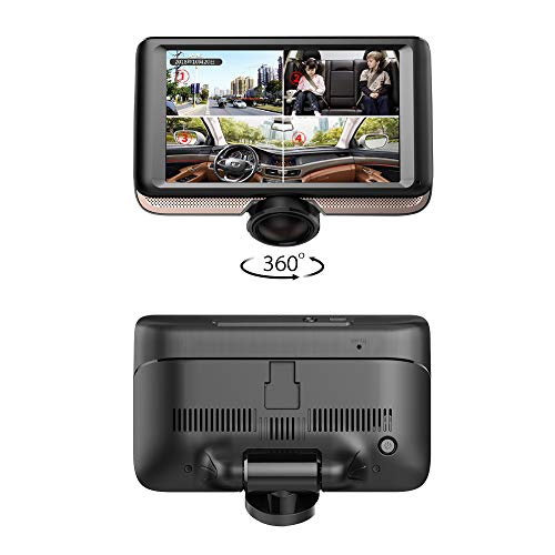 360 Degree Dash Cam for Car,Dual Lens Full HD 1080P Front and 720P Rear View Camera,360 Panoramic Dash Camera,4.5 inch IPS Touch Screen, G-Sensor,WDR, Parking Monitor,Motion Detection