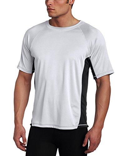 Kanu Surf Men's CB Rashguard UPF 50+ Swim Shirts (Regular & Extended Sizes), Grey, 3X