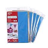 APLI Kids 18963 - Pack 5 bolsas goma EVA multicolor - A4-210 x 297 x 2 mm - 50 hojas - 10 colores surtidos