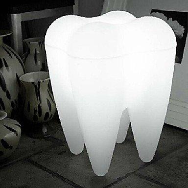 Uncle Sam LI- Lampadaire LED, une lumière, moderne forme de la dent en plastique blanc de 220-240V