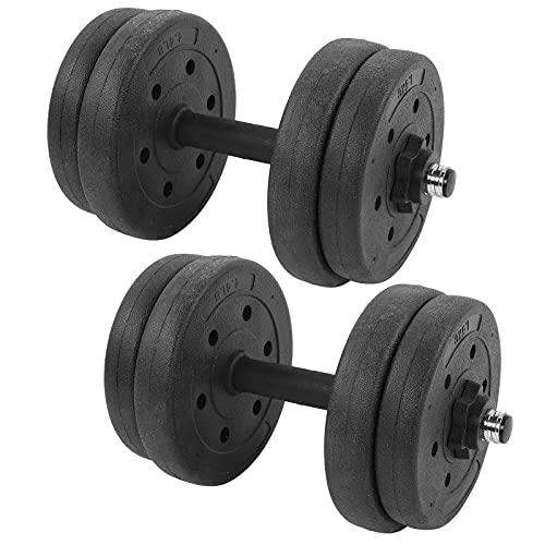 SALUTUYA Hanteln Heben, verstellbare Hanteln für Zuhause, 15 kg Hanteln Gewichtsset für Frauen und Männer Kraft-Bodybuilding-Training, 7,5 kg x 2 Fitnessgeräte