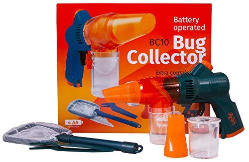 Levenhuk Recolector de Insectos LabZZ BC10 – Kit de Utilización Segura para Niños, con Red de Mango, Pinzas y Visor con Una Lupa para Estudiar Insectos
