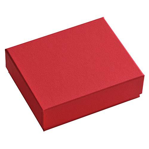 だいし屋 日本製 36色のギフトボックス〈16.濃赤 〉92×72×28mm (白スポンジ入り, 1個) B143