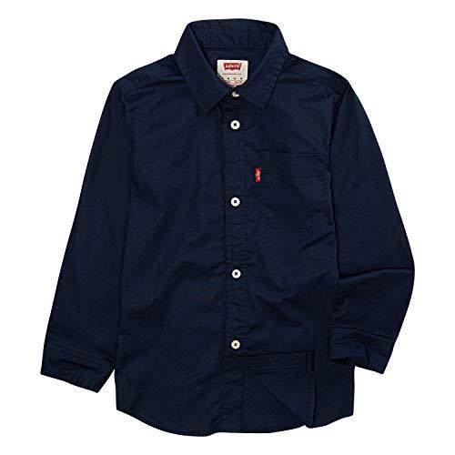 Levi's Big Boys 'Cunningham - Camiseta de manga corta tejida con un bolsillo - Azul - Large