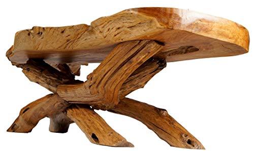 Windalf Alxana Table Basse XL de qualité supérieure en Teck à la Main en Bois de Racine 180 x 46 cm