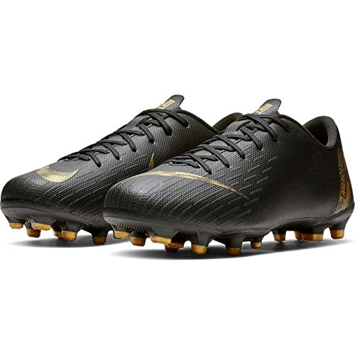 Nike Unisex Vapor 12 Academy Gs MG Fußballschuhe, Schwarz (Black/MTLC Vivid Gold 077), 38 EU