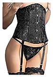 Chilirose Damen Unterbrust-Straps-Corsage mit String XL