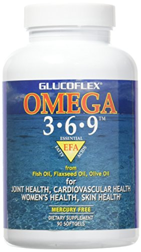 Glucoflex Omega 3-6-9, Omegas from EPA/DHA Fish Oil for Joint Health, 20 Servings