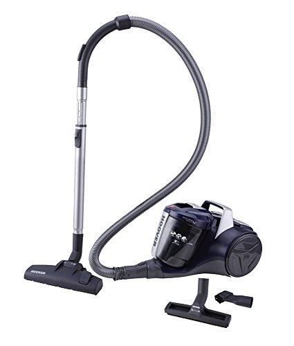 Hoover Breeze BR20 - Aspirador sin bolsa, Aspirador ciclónico, Filtro EPA, Cepillo para parquet, Cepillo suelos duros y alfombra, 700W, 78dBA, Depósito 2L, Potencia fija, Cable 8m, Azul