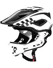 ROCKBROS Casco Integral Desmontable de Niños para Bicicleta MTB BMX Ajustable con 12 Agujeros Tamaño 48-58cm