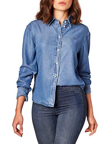 Calvin Klein Jeans Indigo Tencel Shirt Shirt voor dames