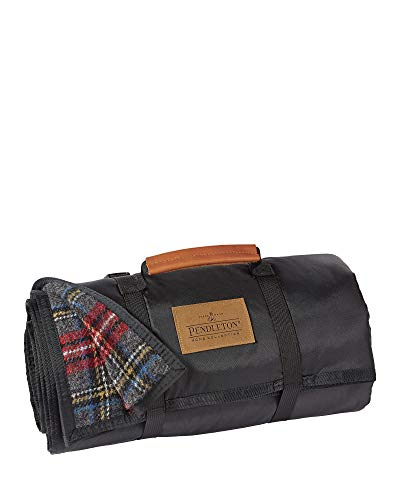 Pendleton Roll-Up Wool Blanket, Charcoal Stewart