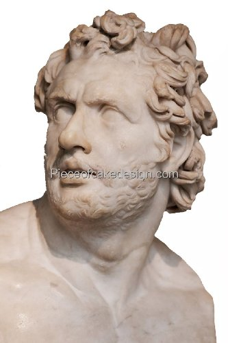 8' ~ Greek Mythology Odysseus Statue Birthday ~ Edible Cake/Cupcake Topper!!!