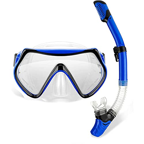 Snorkelmask Kids Anti-Fog Snorkling Dykmask, Panoramic Wide Field of Vision Dykningsglasögon, med snorkel och professionell snorkling utrustning, läckagost torr topp