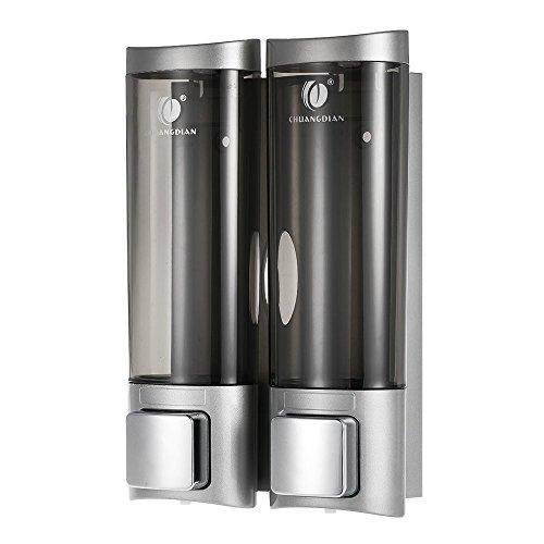 Anself Dispenser di sapone per doccia manuale per gel doccia per shampoo o detergente per mani Argento