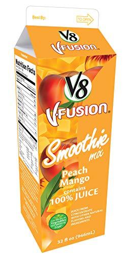 V8 V-Fusion Peach Mango Smoothie Mix, 32 Fluid Ounce -- 12 per case.