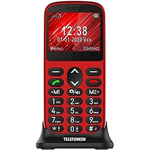 Telefunken - Teléfono móvil S420, Rojo