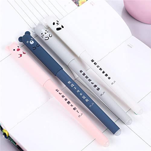 Gaddrt 14.5cm 4 x Nette Kawaii Cartoon Katze Gel Ink Pen Kugelschreiber 0,35mm Blaue Tinte Student...