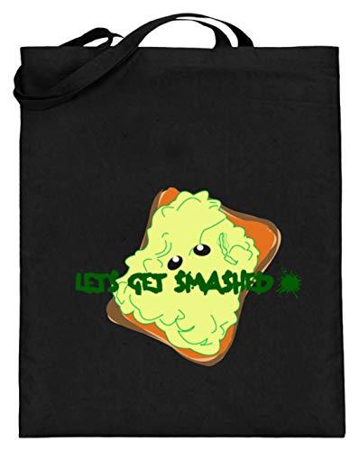 Let's Get Smashed - Avocado Toast Gym Bag motief - Eenvoudig en grappig design - Jute zak (met lange handvatten)