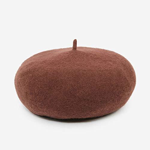 Xme Women's wool beret, autumn and winter painter hat, thick warm pumpkin mushroom cap