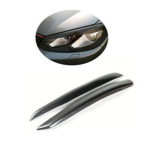 vorne Scheinwerferblenden carbon Augenlidern Augenbrauen für Golf 6VI Mk6