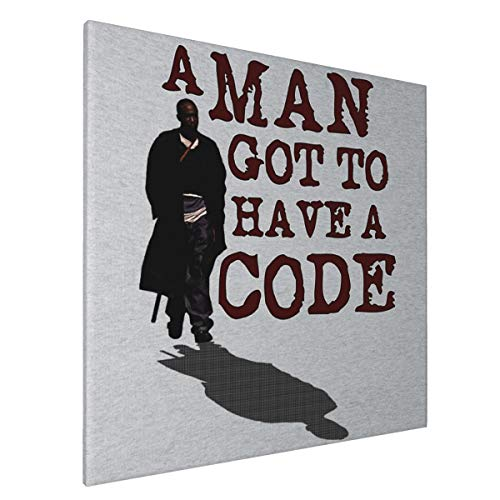 1007 Canvas Prints Wall Art Paintings(20x20in) A Man Got to Have A Code Omar The Wire Pictures Home Office Decor Framed Posters & Prints